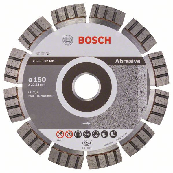 Bosch Accessoires Diamantdoorslijpschijf Best for Abrasive 150 x 22,23 x 2,4 x 12 mm 1st