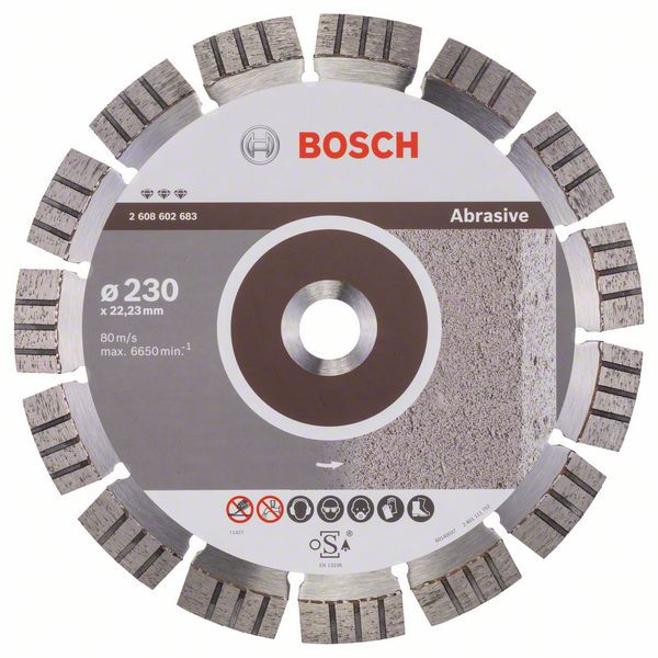 Bosch Accessoires Diamantdoorslijpschijf Best for Abrasive 230 x 22,23 x 2,4 x 15 mm 1st