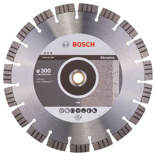 Bosch Accessoires Diamantdoorslijpschijf Best for Abrasive 300 x 20,00+25,40 x 2,8 x 15 mm 1st