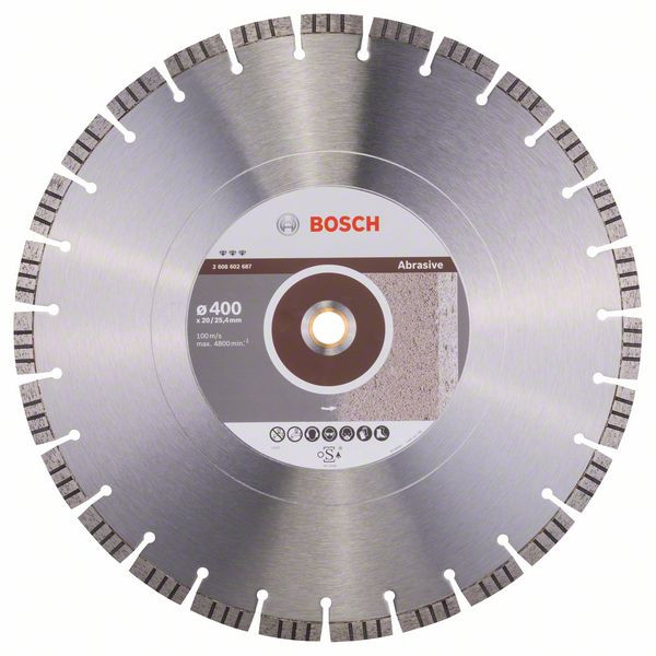 Bosch Accessoires Diamantdoorslijpschijf Best for Abrasive 400 x 20,00+25,40 x 3,2 x 12 mm 1st