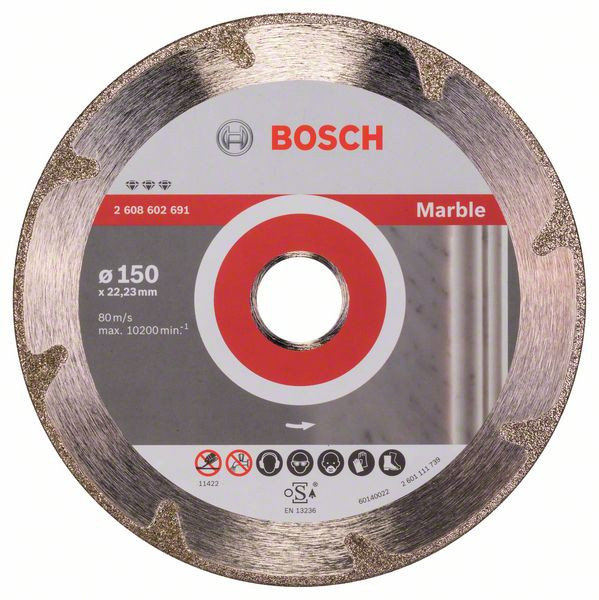 Bosch Accessoires Diamantdoorslijpschijf Best for Marble 150 x 22,23 x 2,2 x 3 mm 1st - 2608602691