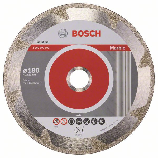 Bosch Accessoires Diamantdoorslijpschijf Best for Marble 180 x 22,23 x 2,2 x 3 mm 1st - 2608602692
