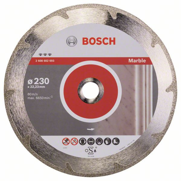 Bosch Accessoires Diamantdoorslijpschijf Best for Marble 230 x 22,23 x 2,2 x 3 mm 1st