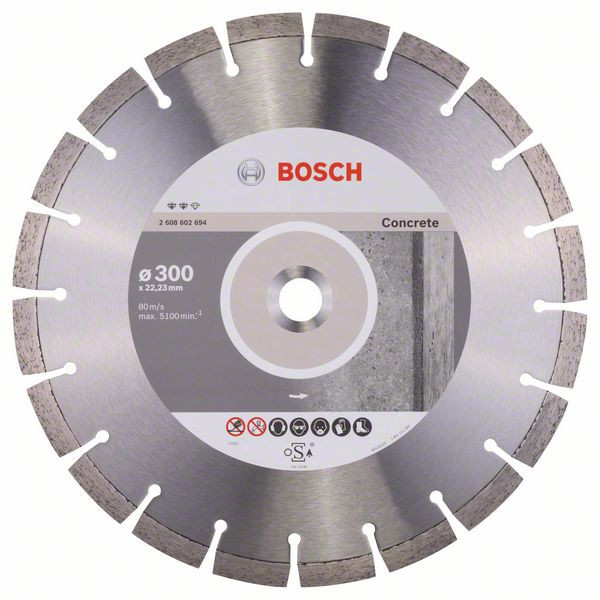 Bosch Accessoires Diamantdoorslijpschijf Expert for Concrete 300 x 22,23 x 2,8 x 12 mm 1st