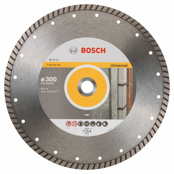 Bosch Accessoires Diamantdoorslijpschijf Standard for Universal Turbo 300 x 22,23 x 3 x 10 mm 1st - 2608602696