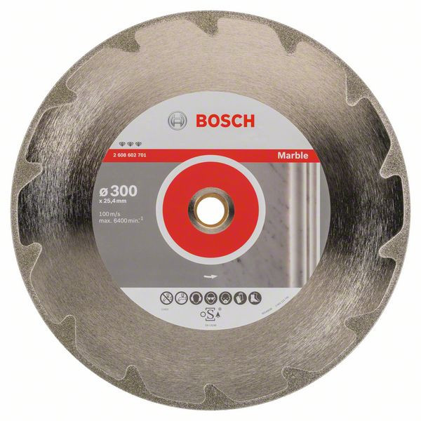 Bosch Accessoires Diamantdoorslijpschijf Best for Marble 300 x 20,00+25,40 x 2,6 x 5 mm 1st - 2608602701