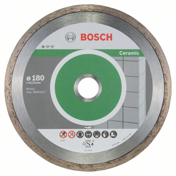 Bosch Accessoires Diamantdoorslijpschijf Standard for Ceramic 180 x 22,23 x 1,6 x 7 mm 10st - 2608603233