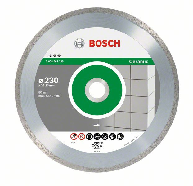 Bosch Accessoires Diamantdoorslijpschijf Standard for Ceramic 230 x 22,23 x 1,6 x 7 mm 10st - 2608603234