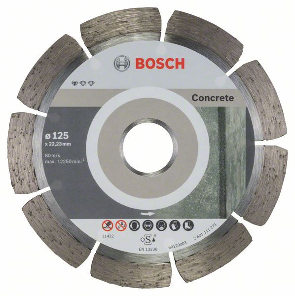 Bosch Accessoires Diamantdoorslijpschijf Standard for Concrete 125 x 22,23 x 1,6 x 10 mm 10st - 2608603240