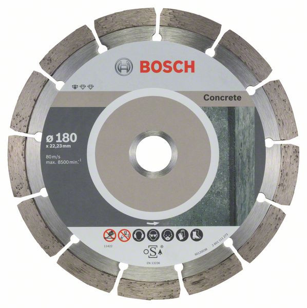 Bosch Accessoires Diamantdoorslijpschijf Standard for Concrete 180 x 22,23 x 2 x 10 mm 10st - 2608603242