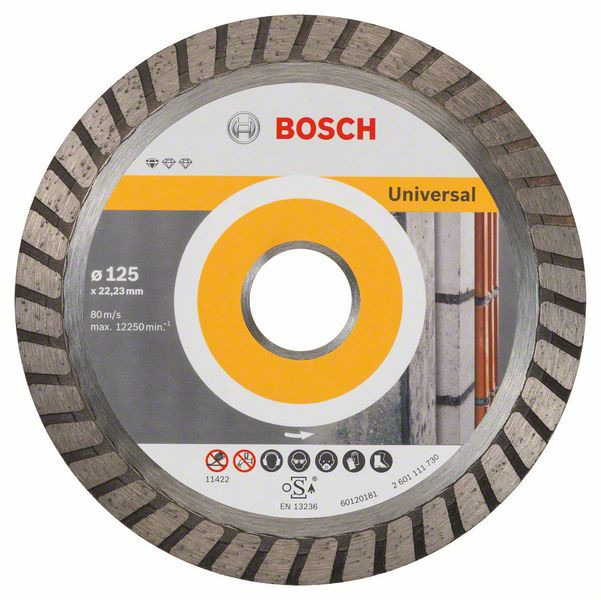 Bosch Accessoires Diamantdoorslijpschijf Standard for Universal Turbo 125 x 22,23 x 2 x 10 mm 10st - 2608603250