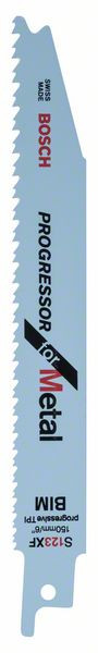 Bosch Accessoires Reciprozaagblad S 123 XF Progressor for Metal 25st