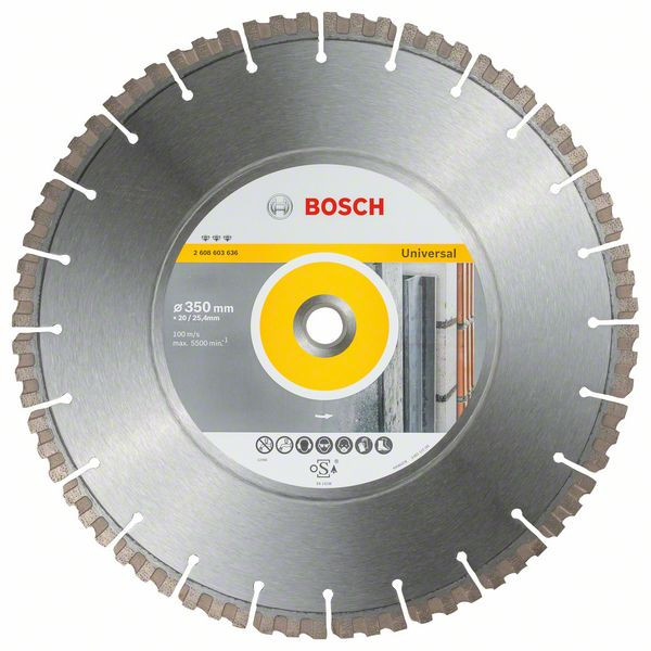 Bosch Accessoires Diamantdoorslijpschijf Best for Universal 350 x 20/25,40 x 3,3 x 15 mm