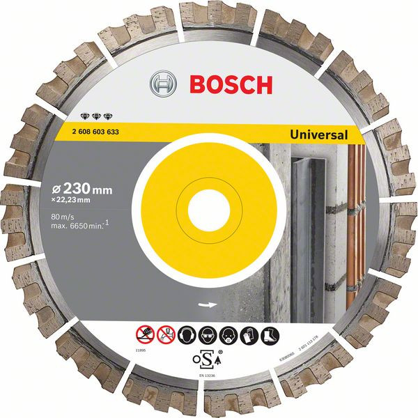 Bosch Accessoires Diamantdoorslijpschijf Best for Universal 400 x 20/25,40 x 3,3 x 15 mm - 2608603637