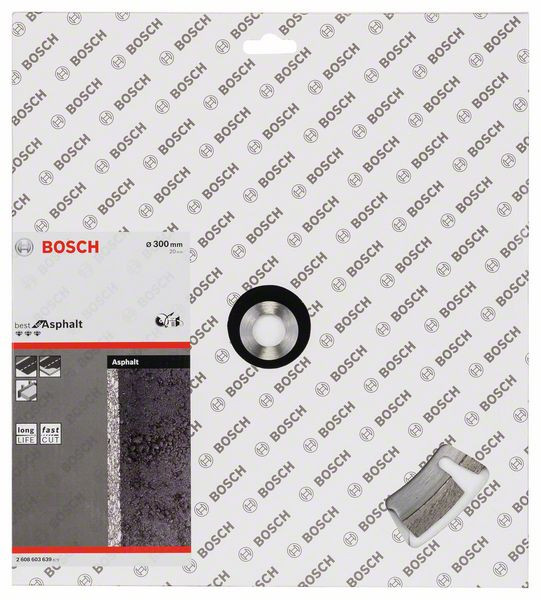 Bosch Accessoires Diamantschijf Best for Asphalt, 300x20x12mm