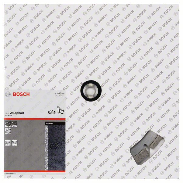 Bosch Accessoires Diamantschijf Best for Asphalt, 400x25.4x12mm - 2608603642