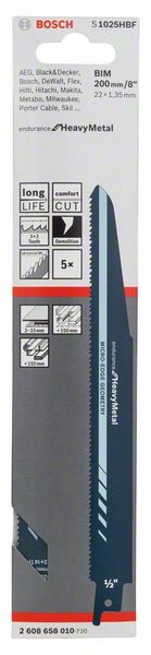Bosch Accessoires Sabre saw blade S 1025 HBF
