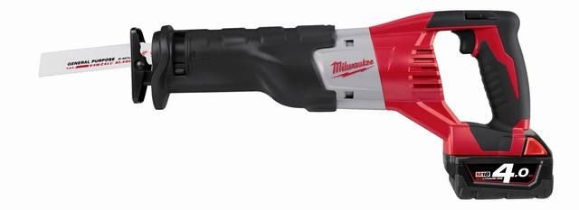 Milwaukee HD18 SX-402C Accu Reciprozaag | 4.0Ah Li-ion  - 4933441365