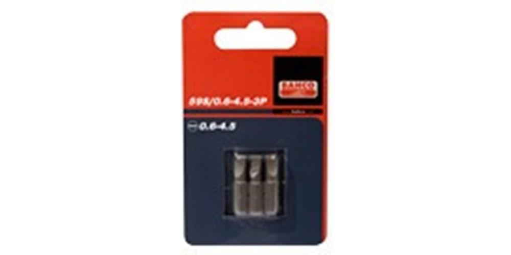 Bahco 3xbits 1.2-6.5 25mm 1-4 standaard | 59S/1.2-6.5-3P - 59S/1.2-6.5-3P