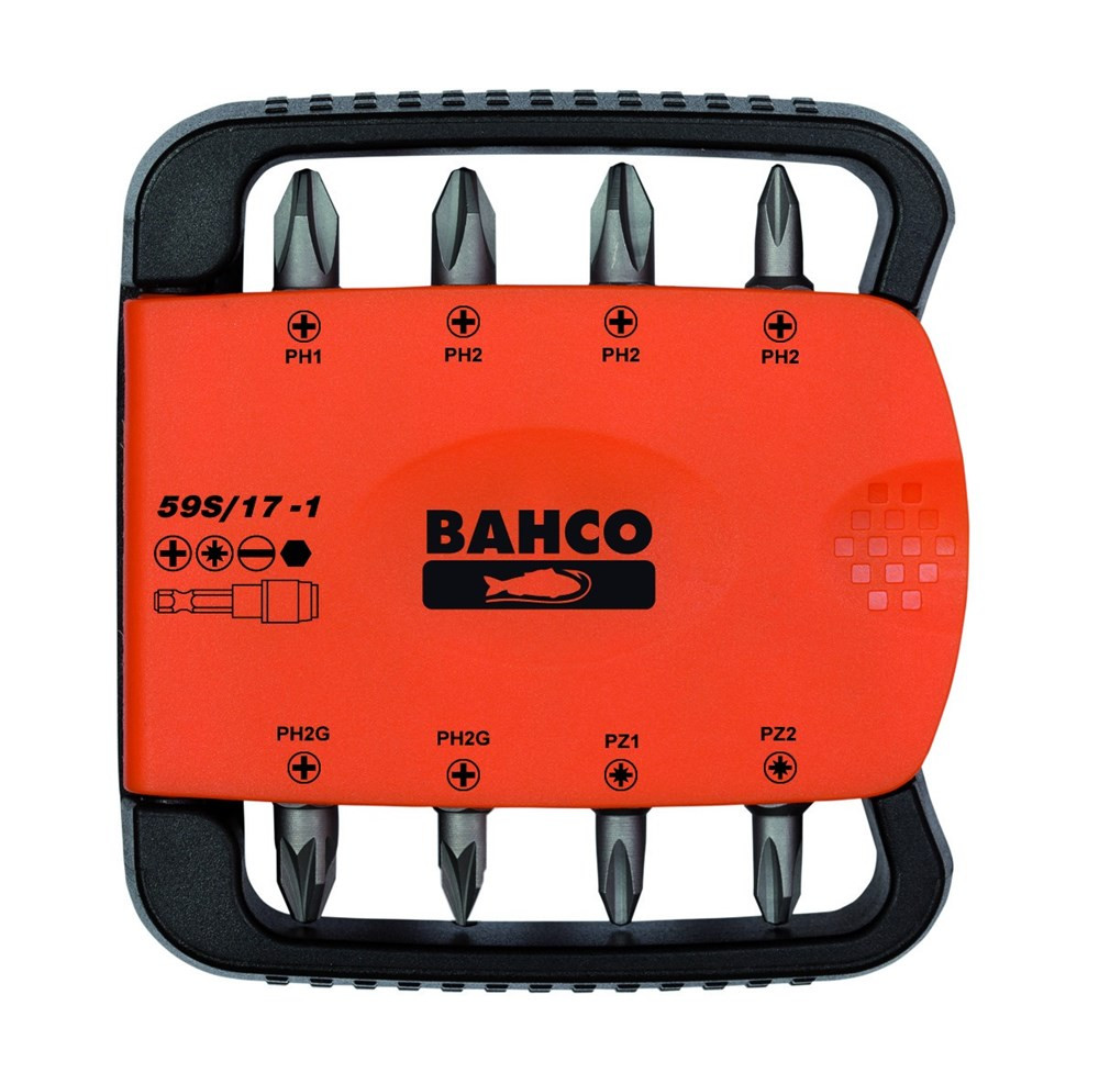 Bahco bits set 17pcs ph,pz,hex,sl | 59S/17-1 - 59S/17-1