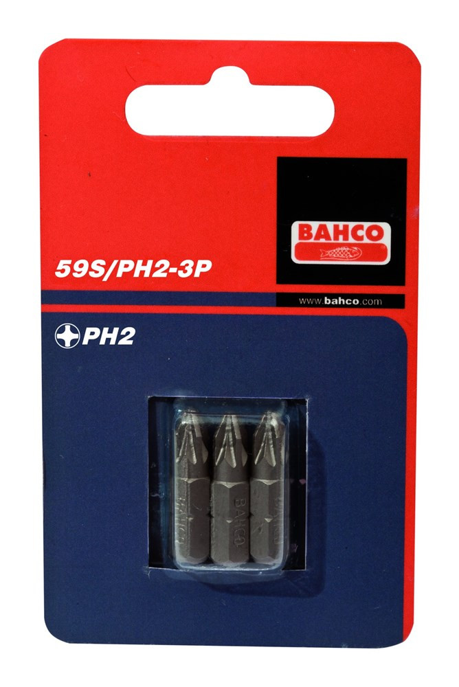 Bahco x3 bits ph2 25mm 1-4inch dr standard | 59S/PH2-3P