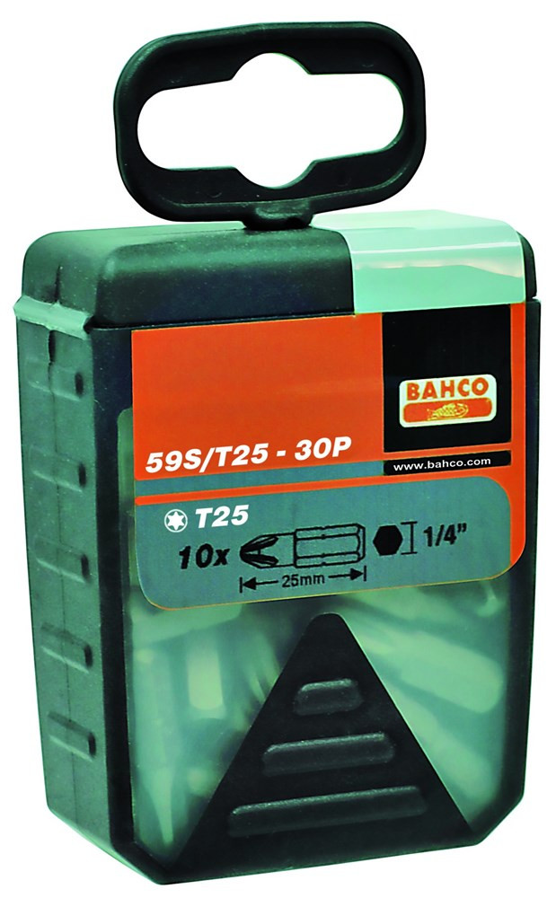 Bahco 30 bits t10 25mm 1-4 standard | 59S/T10-30P