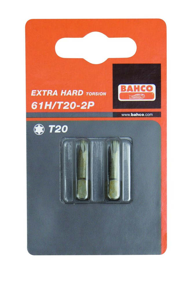 Bahco 2xbits t20 25mm 1-4 extrahard | 61H/T20-2P
