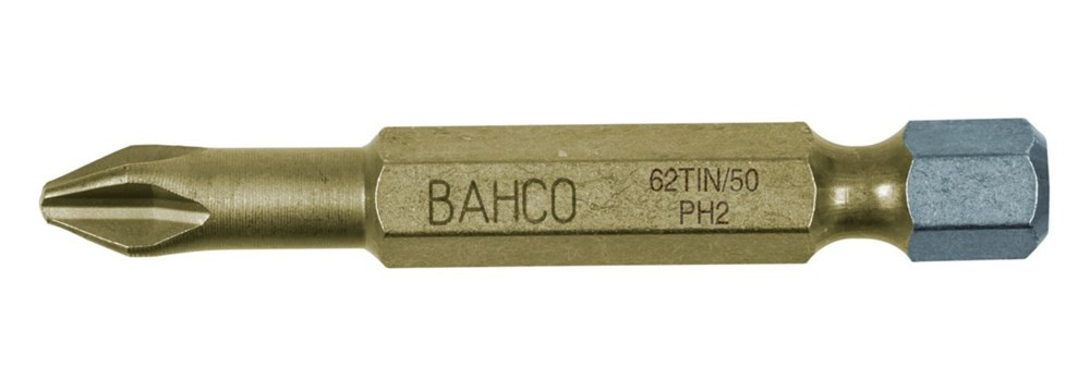 Bahco bit ph2 50mm 1-4 dr tin | 62TIN/50PH2 - 62TIN/50PH2