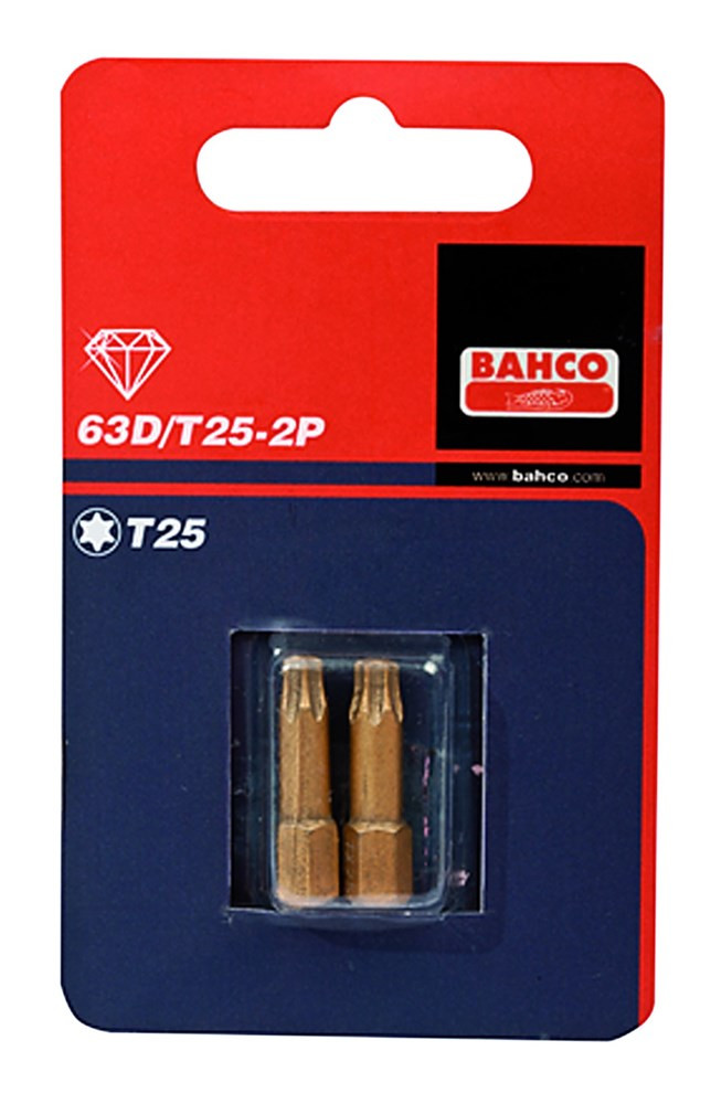 Bahco x2 bit t25 25mm 1-4  diamond | 63D/T25-2P