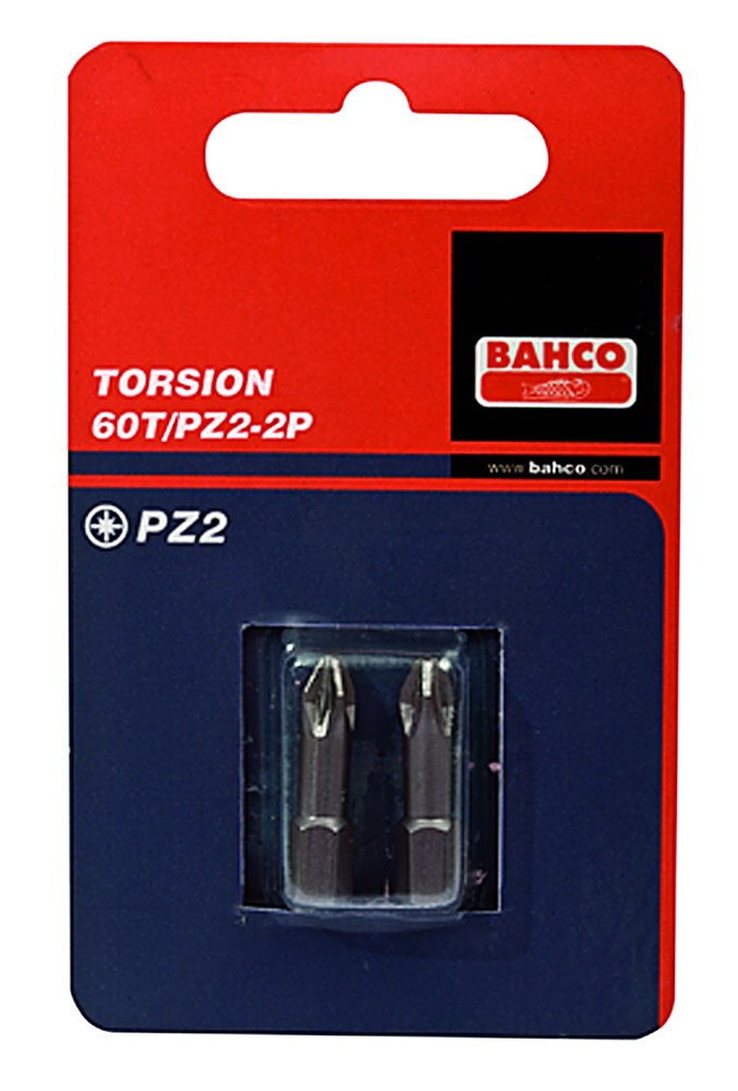 Bahco 2x bit pz1 25mm 1-4 torsion | 60T/PZ1-2P