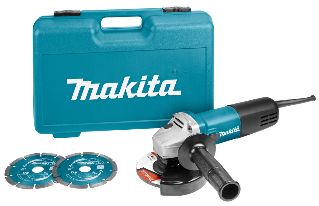 Makita 9558HNRGK2 Haakse slijper | 125mm 840w | + 2 diamantschijven