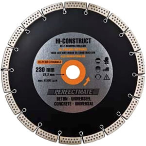 Perfectmate EPU0807 Diamantschijf | Beton en universeel | 125 mm