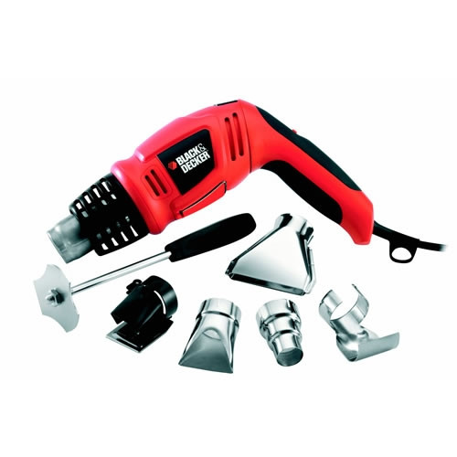 Black and Decker KX1693 Heteluchtpistool | 1800 Watt | 3 Standen | + toebehoren