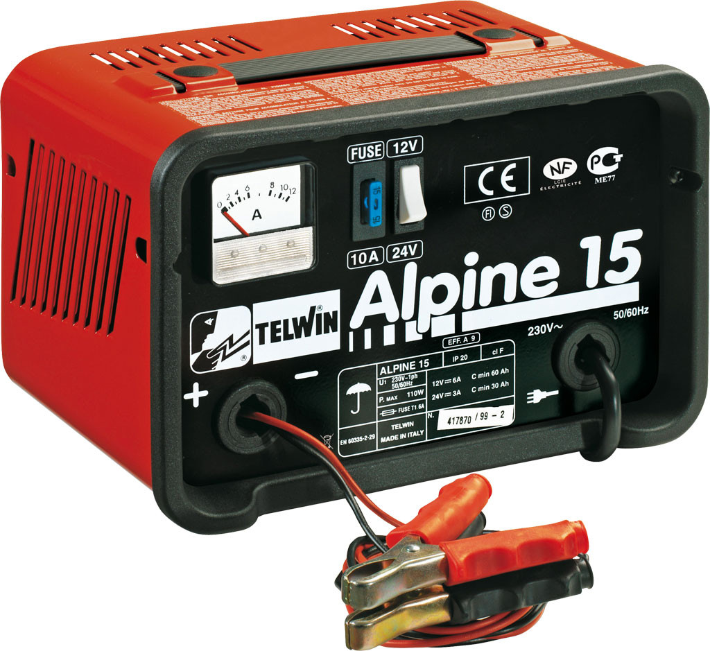 Telwin Alpine 15 Draagbare electrische acculader
