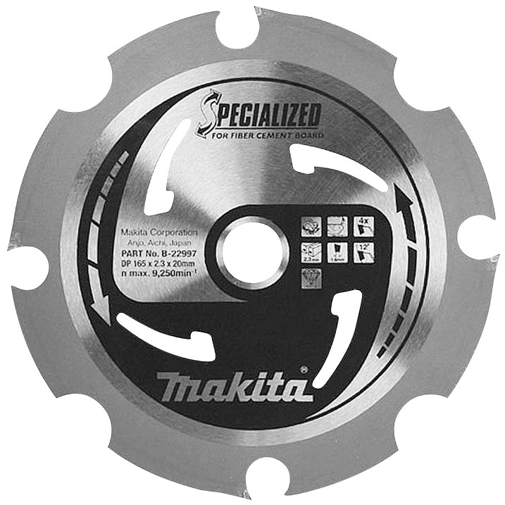 Makita Accessoires Zaagblad PCD 165x20x2,3 4T 12g vecelcement