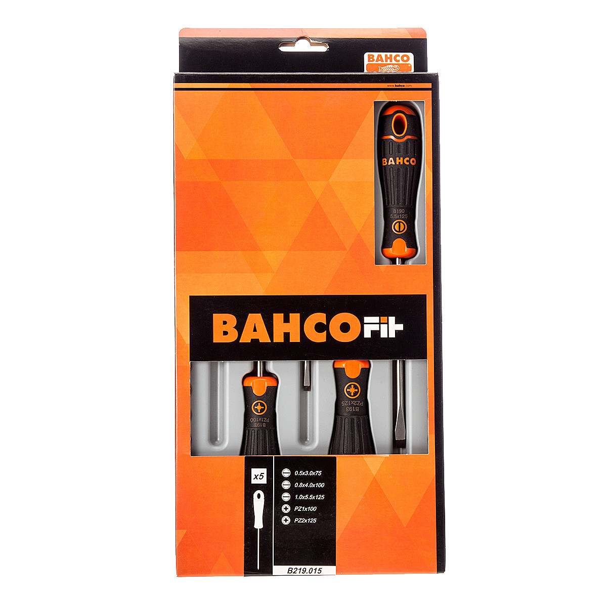Bahco Bahcofit 5 delige schroevendraaierset, | B219.015 - B219.015
