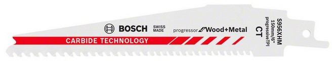 Bosch Accessoires S956XHM Reciprozaagblad Progressor for Wood and Metal Carbide Technology