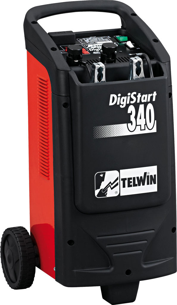 Telwin Digistart 340 Mobiele digitale acculader met microprocessor