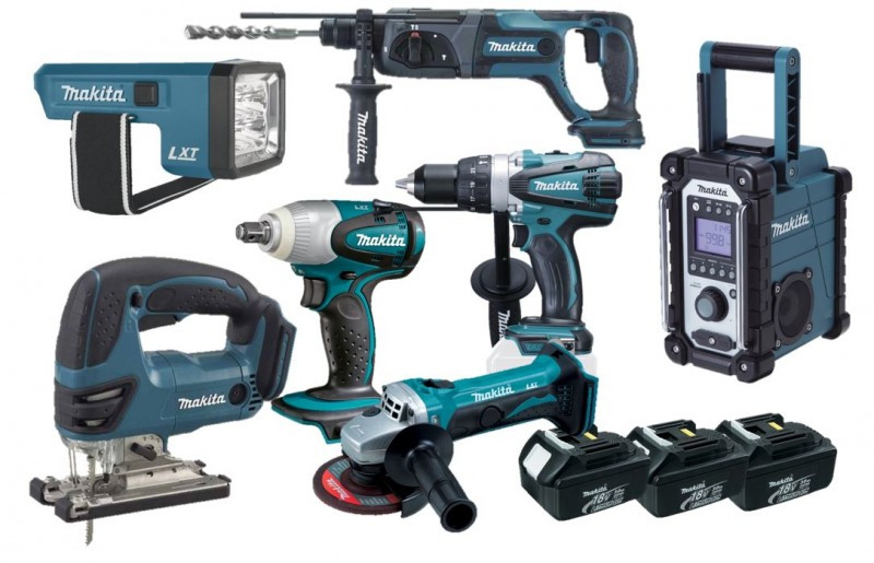 Makita DLX7000X2M2 | 7 delige 18V Li-Ion accu combinatie set (3x 3.0Ah accu) in tas