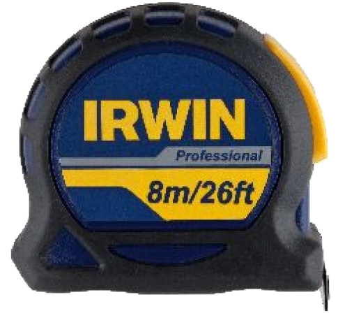 Irwin Professioneel 8m meetlint | 25 mm
