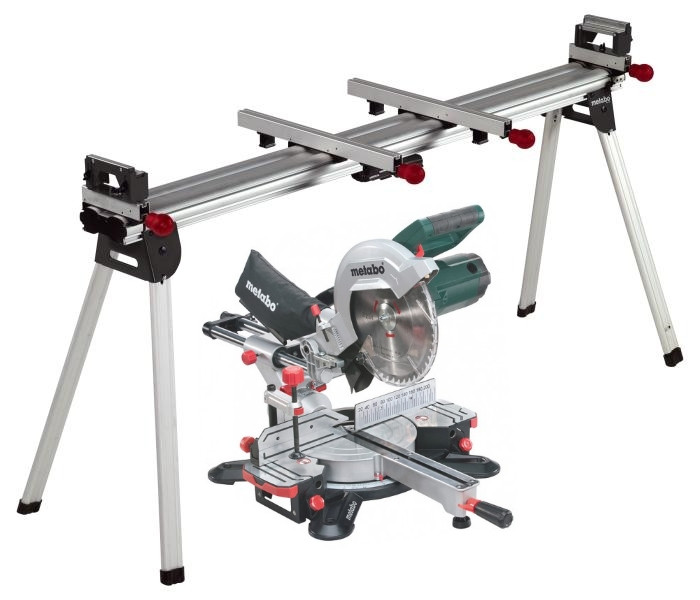 metabo afkortzaag kgs 254 m met trekfunctie nieuw model ksu 401 onderstel toolmax. Black Bedroom Furniture Sets. Home Design Ideas