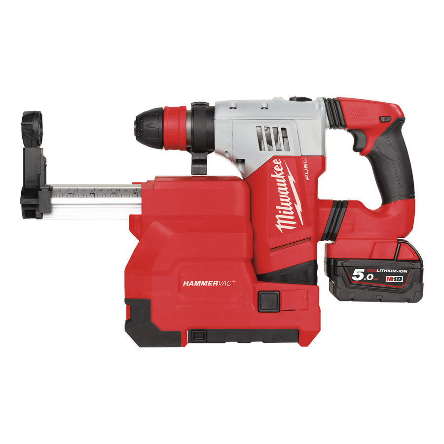 Milwaukee M18 CHPXDE-502C SDS-Plus Boorhamer met afzuiging (5.0Ah) - 4933448180