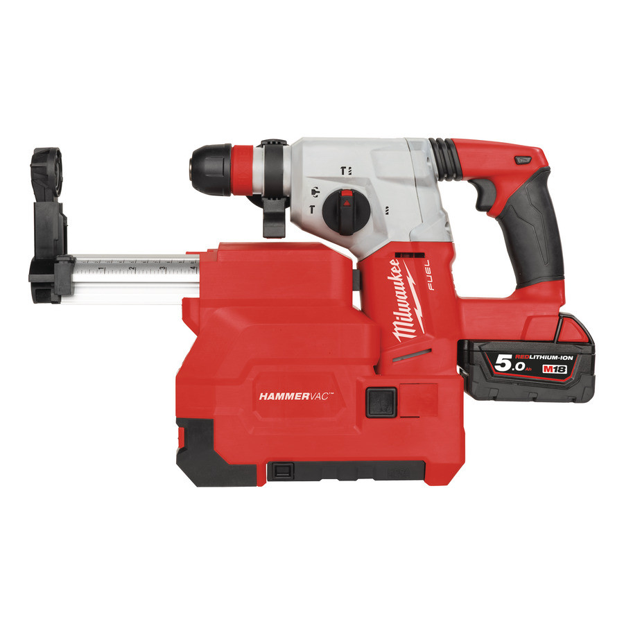 Milwaukee M18 CHXDE-502C M18 FUEL™ SDS-plus Accuboorhamer met afzuiging (5.0Ah) - 4933448185
