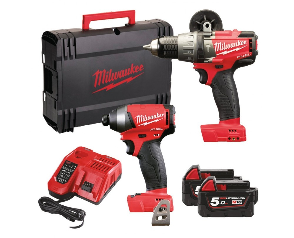 Milwaukee M18PP2A Fuel power Pack 18V 5,0Ah Red Li-Ion