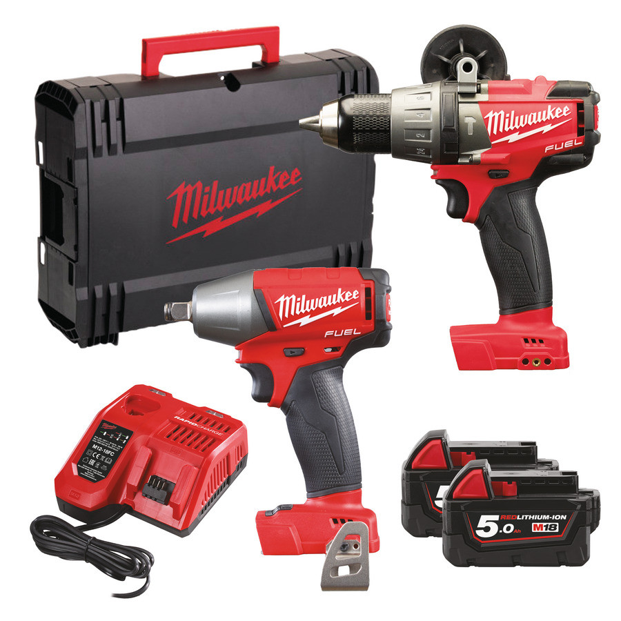 Milwaukee M18FPP2B-502X Fuel power Pack 18V 5,0Ah Red Li-Ion - 4933451077a