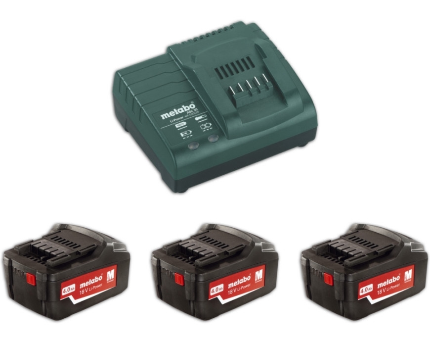 Metabo Basis-set 3x 18 volt 4.0Ah accu's | Pick+Mix - 685049000