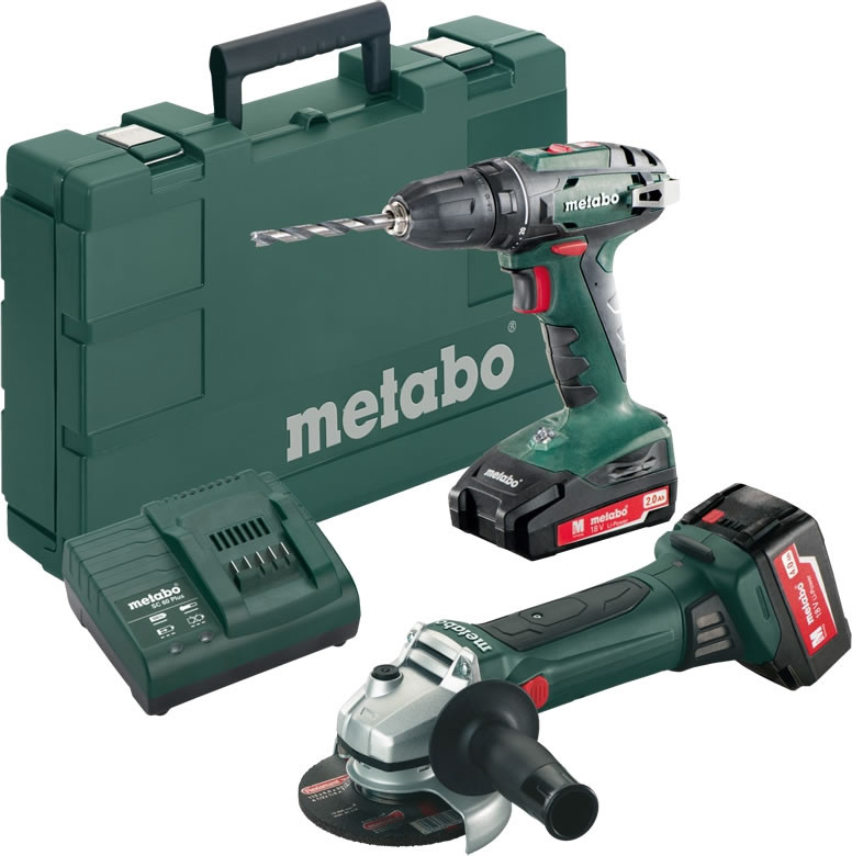 Metabo BS 18 accuboormachine en haakse slijper W18 Combo set 2.4.3 - 685082000