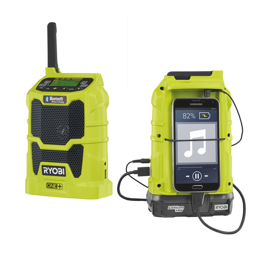 Ryobi R18R-0 18v radio met Bluetooth | One Plus | zonder accu's - 5133002455