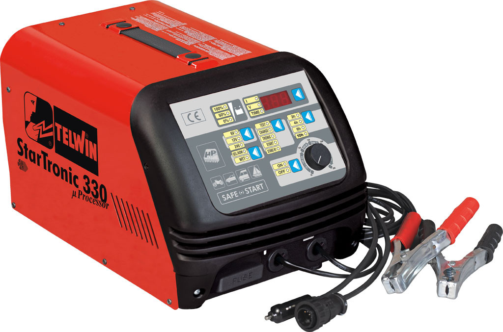 Telwin Startronic 330 Digitale acculader met microprocessor