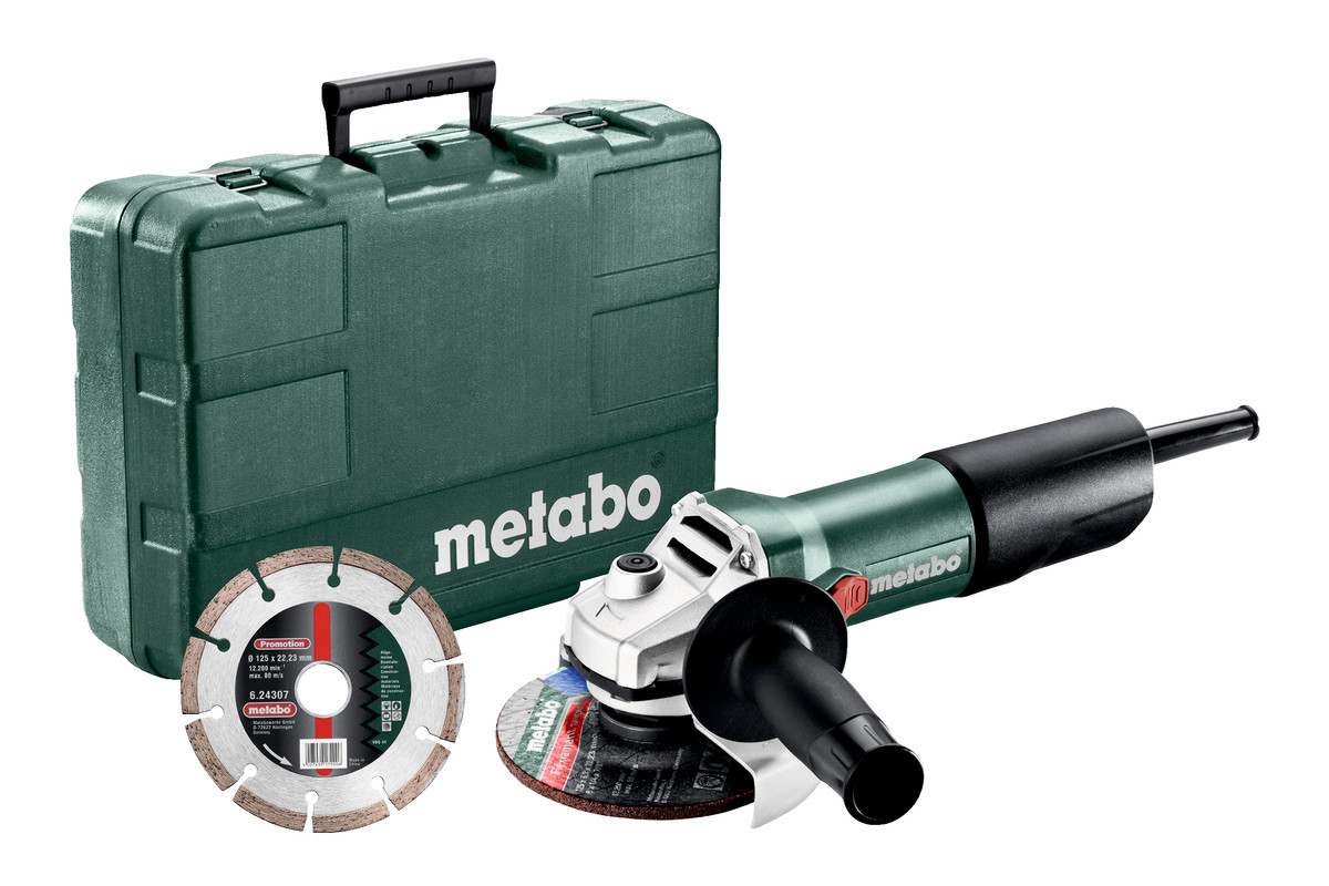 Metabo Haakse slijper W 850-125 in koffer + diamantschijf - 603608510
